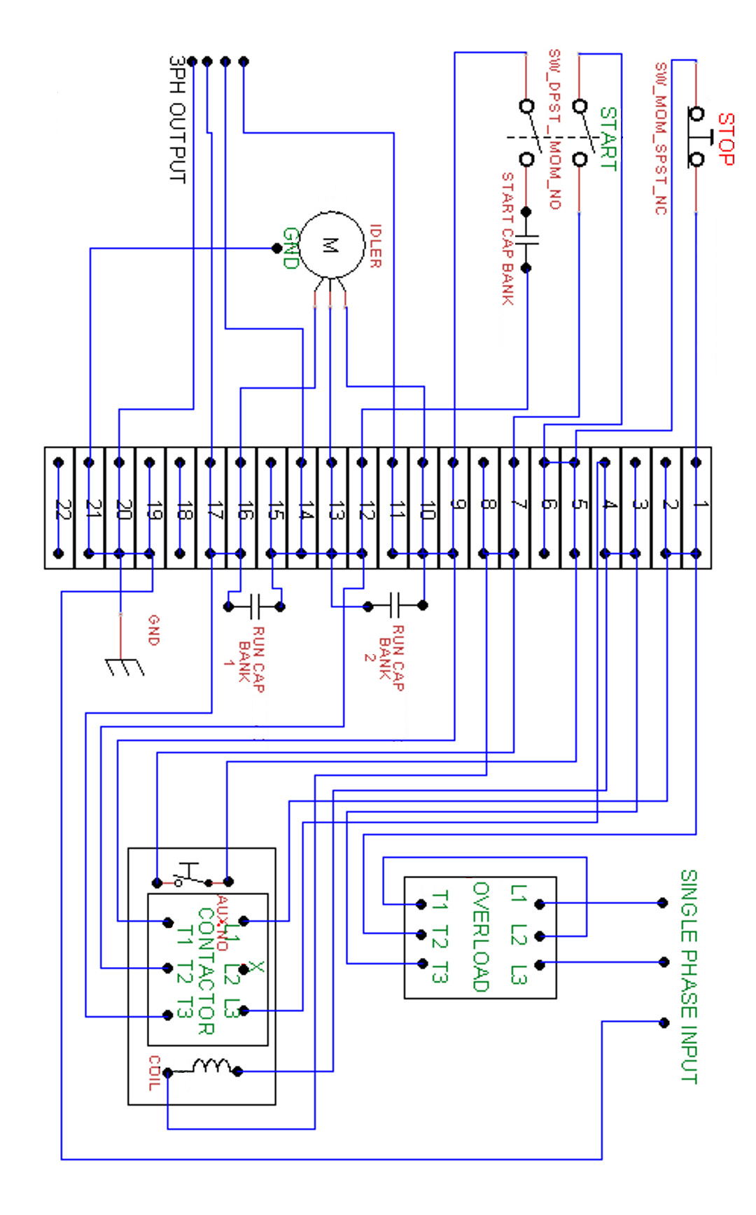 3 Phase To Single Phase Rotary Converter